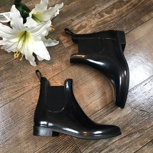 Sam Edelman Black Tinsley Ankle Rain Boots